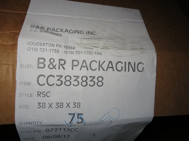(50) 38 X 38 X 38 IN & (10) 36 X 31 X 8-1/2 IN K/D CORRUGATED BOXES - Image 2 of 3
