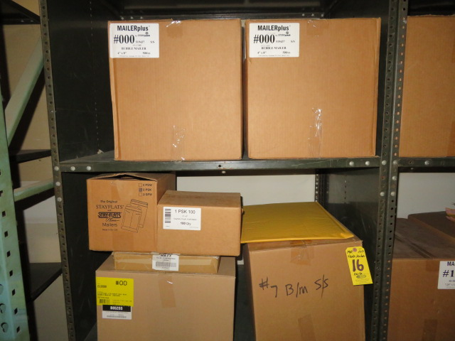 (13) BOXES ASST BUBBLE MAILERS & (3) STAY-FLAT & POLY MAILERS - Image 2 of 4