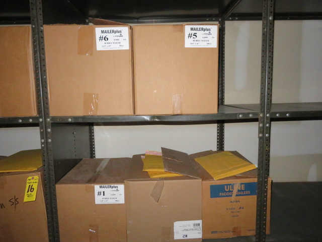 (13) BOXES ASST BUBBLE MAILERS & (3) STAY-FLAT & POLY MAILERS - Image 4 of 4