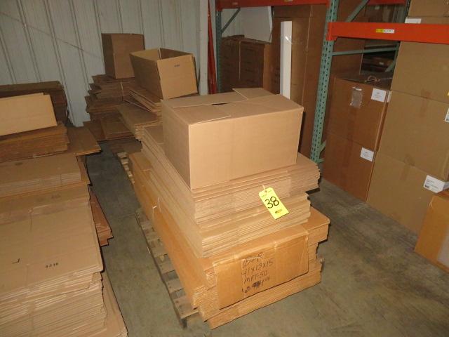(3) SKIDS ASST K/D CORRUGATED BOXES