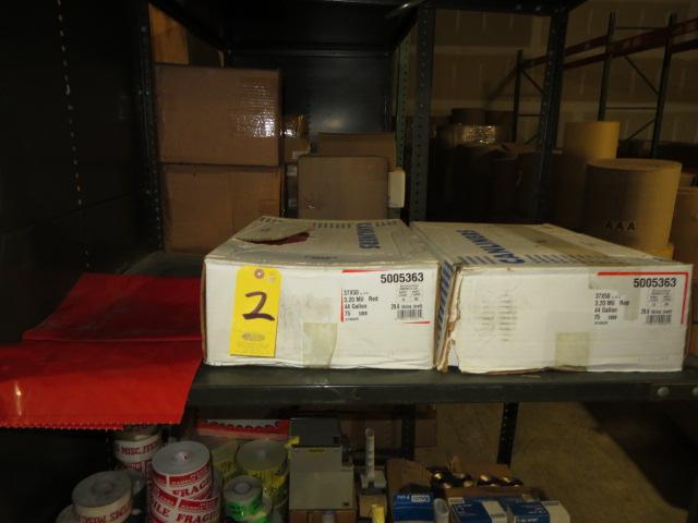 (2) BOXES OF BIO-HAZARD PLASTIC BAGS, 37X50, 3.2 MIL