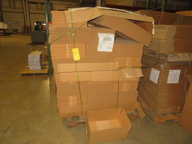 (1175) 21 X 13 X 5 IN K/D CORRUGATED BOXES W/ ONE SIDE DIE CUT