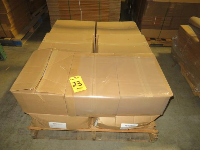 (14) BOXES 23 X 23 X 6 POLY SHEETS