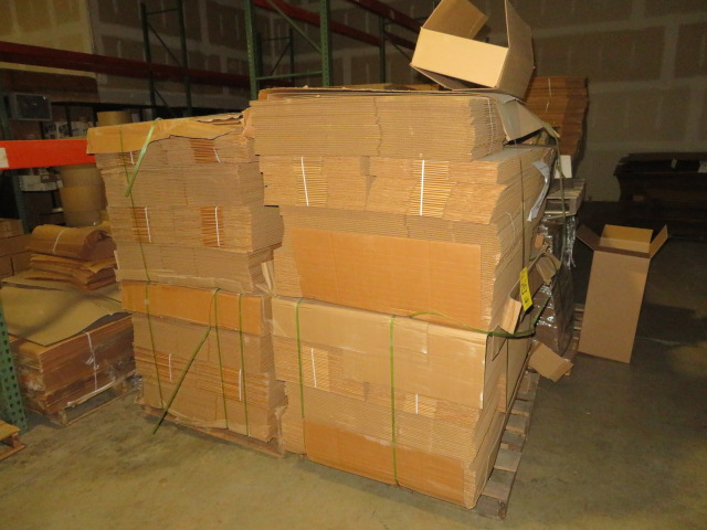 (1175) 21 X 13 X 5 IN K/D CORRUGATED BOXES W/ ONE SIDE DIE CUT - Image 2 of 2