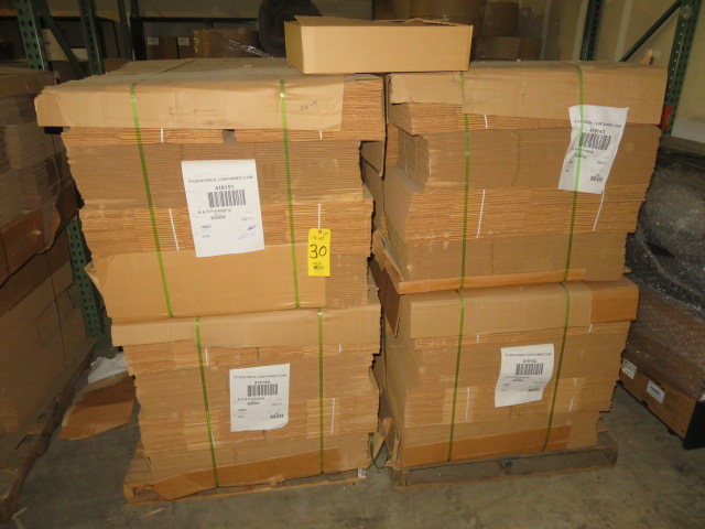 (1200) 21 X 13 X 5 IN K/D CORRUGATED BOXES W/ ONE SIDE DIE CUT