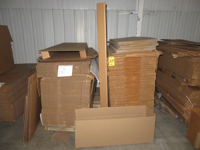 (80) 26 X 5 75 & (165) 70 X10 X 10 IN K/D CORRUGATED BOXES