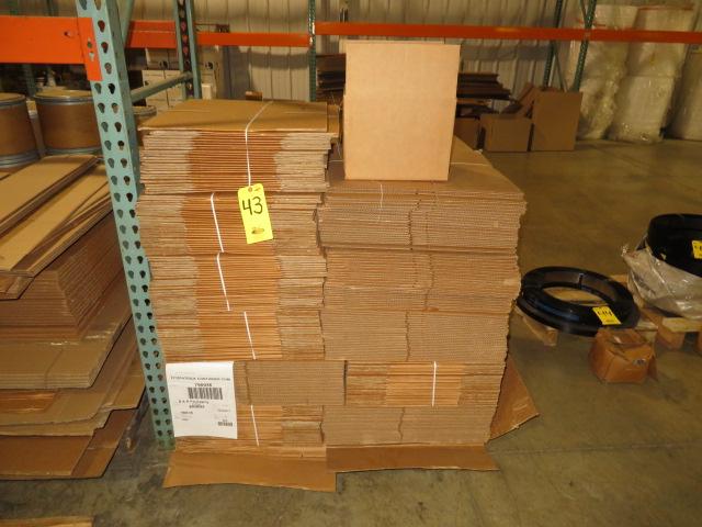 (525) 12-3/4 X 9-1/2 X 10-3/4 K/D CORRUGATED BOXES W/ ONE SIDE DIE CUT