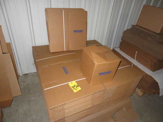 (225) 12 X 12 X 12 PRINTED K/D CORRUGATED BOXES-250#