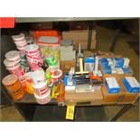 TAPE GUNS, DISPENSER, BOX STAPLES, BOX CUTTERS, BLADES & PRESSURE SENSITIVE PRINTED STICKERS