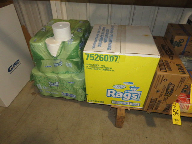 (3) PAKS BATHROOM TISSUE, SCOTT RAGS & MARCAL CENTER PULL TOWELS