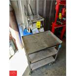 Assorted S/S & Steel with S/S 3-Tier Cart Rigging Fee: $ 50