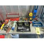 Assorted Hand Tools Including: Sockets Slip Joint Pliers Klein Model MM300 Multimeter Zircon Stud