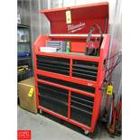 """Milwaukee 46"""" 8-Drawer Steel Storage Cabinet Model 48-22-8510 Contents Included Rigging Fee: $ 25"""