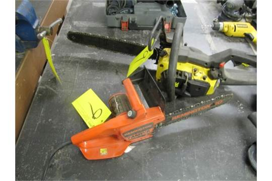 Lot 2 asst mcculloch pro mac 375 gas chain saw remington lnt 2 mcculloch pro mac 375 gas chain saw remington lnt 2 electric chain saw etc keyboard keysfo Choice Image