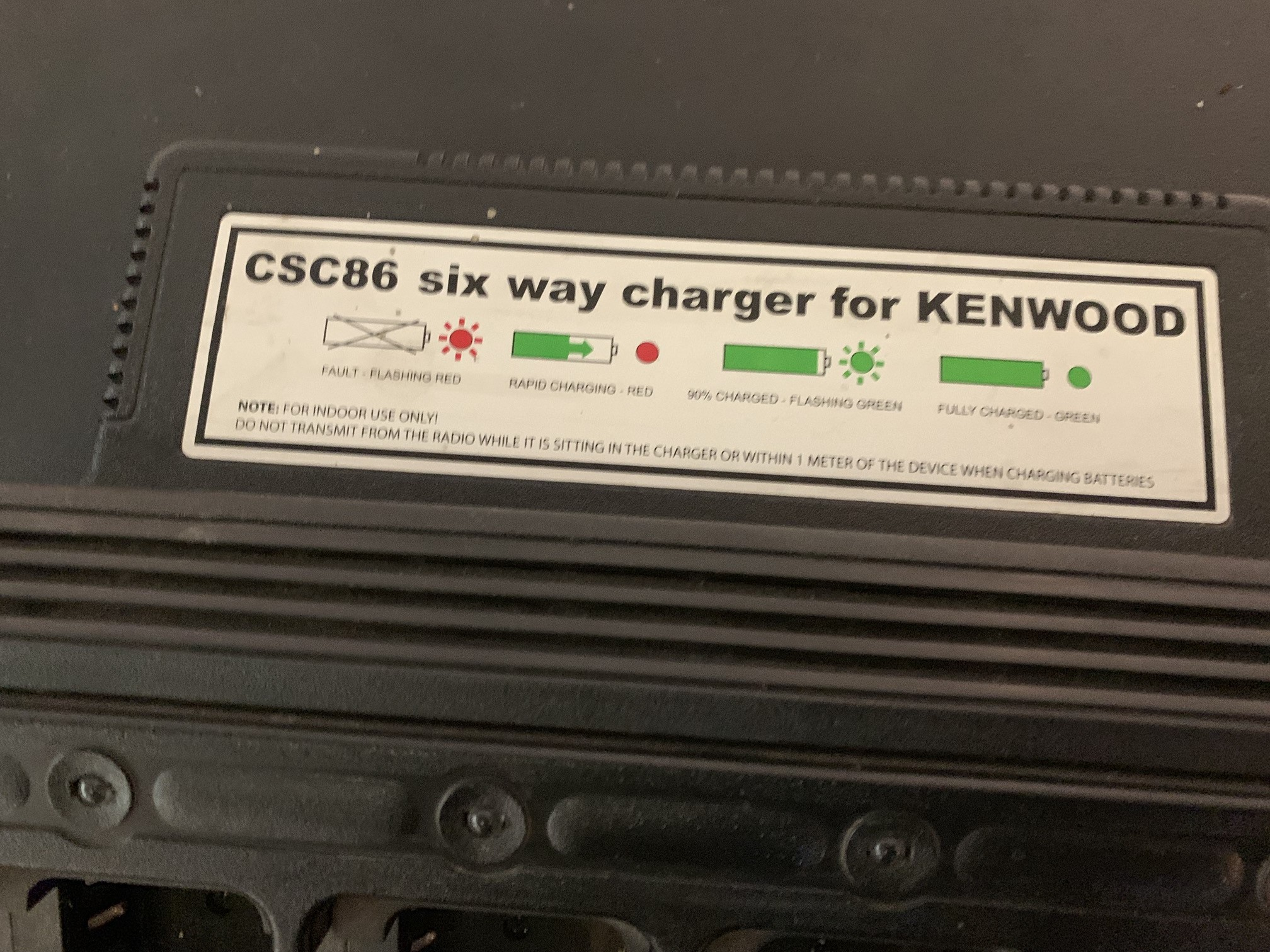 Lot 26 - 6 WAY KENWOOD RADIO FAST CHARGER