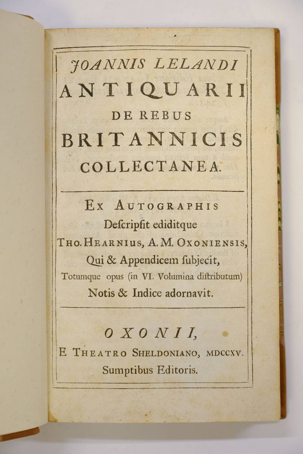 Lot 21 - Leland (John). De Rebus Britannicis Collectanea, 6 volumes, Oxford, 1715, folding engraved plates,