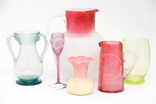 Thomas Webb Vaseline Vase With A Cracked Vaseline Vase A Fritted