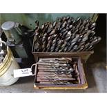 LOT: Assorted Large Drills in (2) Tote Pans