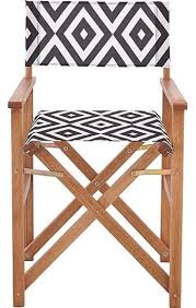 Lot 41 - Boxed Set of 2 MonoChrome Directors Chairs Combined RRP £85 (Public Viewing and Appraisals
