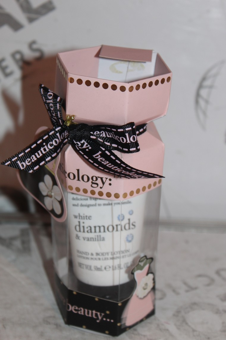 Lot 48 - Lot to Contain 3 Brand New Beauticology White Diamond and Vanilla Hand and Body Lotion