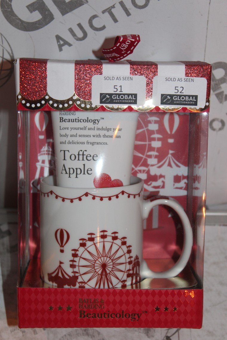 Lot 51 - Lot to Contain 2 Boxed Brand New Bayliss and Harding Beauticology Carnival Mug Sets to Include