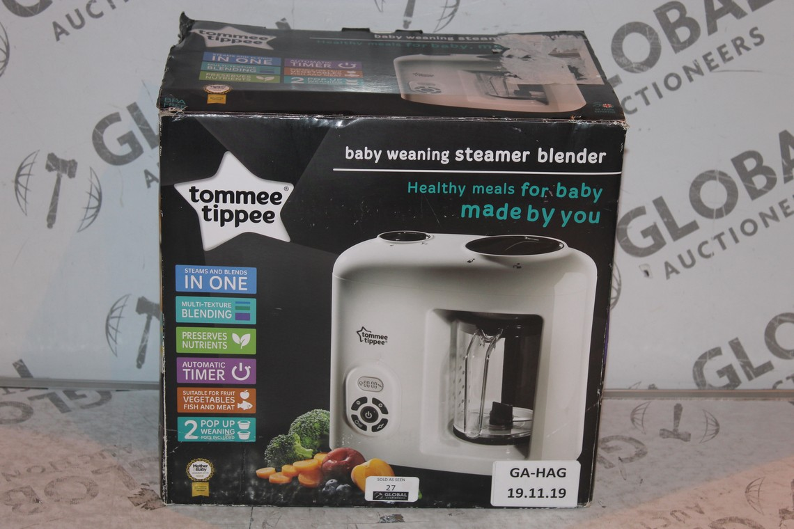 Lot 27 - Boxed Tommee Tippee Baby Weaning Steamer Blender RRP £65 (Public Viewing and Appraisals Available)