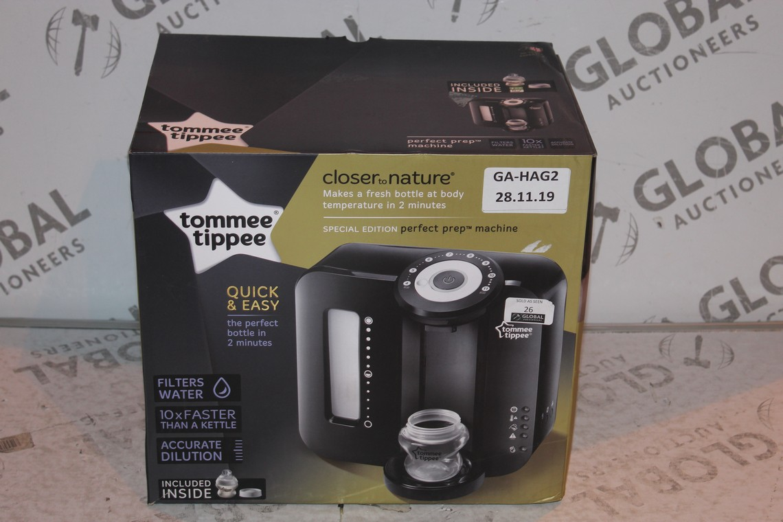 Lot 26 - Boxed Tommee Tippee Perfect Prep Machine in Black RRP £85 (Public Viewing and Appraisals Available)
