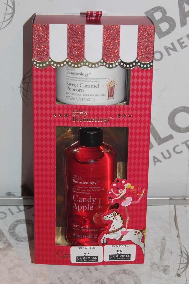 Lot 57 - Lot to Contain 2 Brand New Bayliss and Harding Seasonal Gift Sets to Include 250ml Sweet Caramel