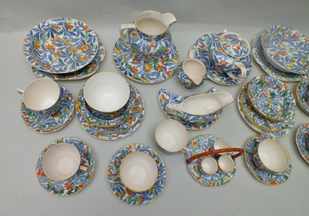 """Lot 7 - A SELECTION OF MULTI COLOURED """"FANTASY"""" BRANDED BARKER BROTHERS OF STAFFORDSHIRE TABLE WARES to"""