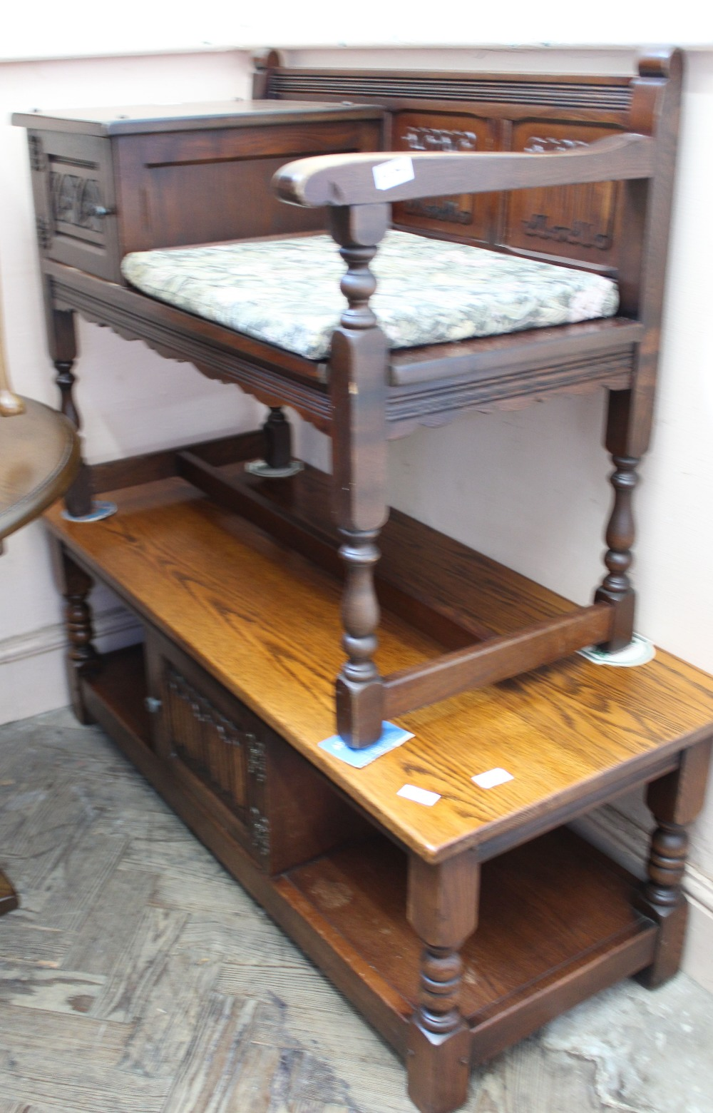 Lot 1052 - An Old Charm coffee table and telephone table