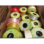 5 x various Colours of Reels of Folio Fleurette Ribbons (91 mtrs per reel) RRP £1 per Metre new