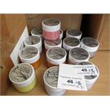 7 x various colours 50ml Chalkies Water Based Stamping Paint new