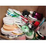 10 x various Colours of Reels of Craft Ribbons RRP 30p - £1 per Metre new see image randomly picked