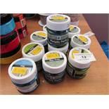 10 x various Colours 50ml Metallic Paste Pots RRP £4.99 each new see image