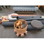 QTY OF UNDERGROUND DRAINAGE PIPES & FITTINGS [NO VAT]