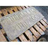 BURNLEY FC CARVED INTO NATURAL STONE [NO VAT]