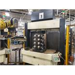 MAKINO A66 HORIZONTAL MACHINING CENTER, S#MM-0232; WITH TURBO MICROFINE CONVEYOR, MODEL 6589-8009;