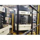 MAKINO A66 HORIZONTAL MACHINING CENTER, S#MM-0167; WITH TURBO MICROFINE CONVEYOR, MODEL 6589-8009;