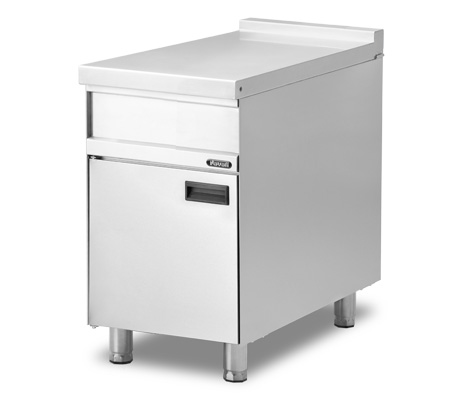 Lot 25 - *Grandis 900 Worktop, stand-alone or suite, 600mm W x 900mm D, open cabinet base, orbital finished t