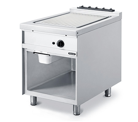 Lot 32 - *Grandis 900 Fry Top, gas, stand-alone or suite, 600mm W x 900mm D, manual controls, 16mm thick groo