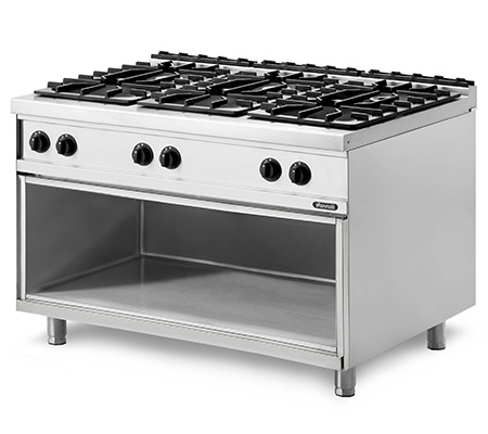 Lot 7 - *Grandis 900 Range, gas, stand-alone or suite, (6) open burners, manual controls, cabinet base, drip