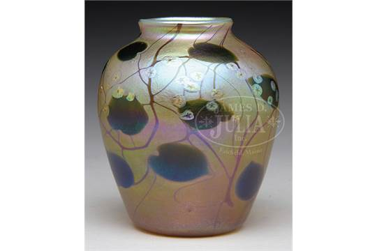Tiffany Gold Favrile Millefiori Vasetiffany Gold Favrile Vase Is