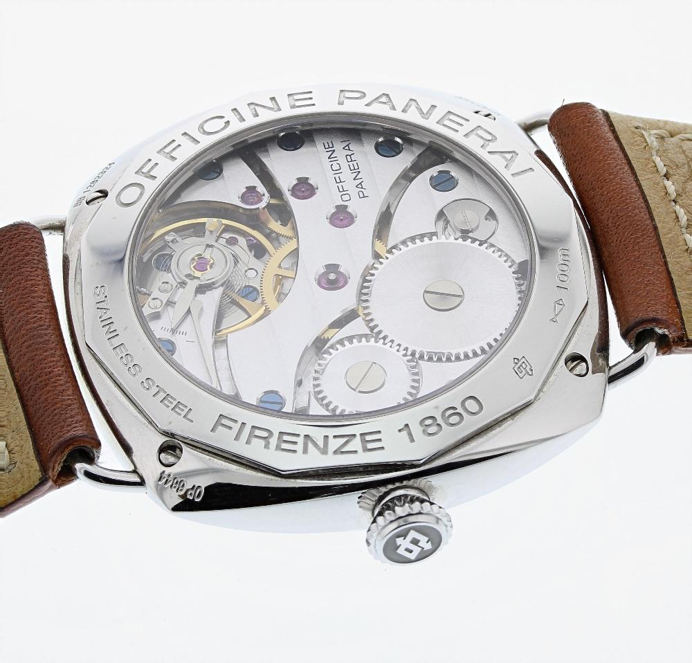 Lot 160 - Panerai Radiomir Black Seal stainless steel gentleman's wristwatch, ref. OP 6644, circa 2008, serial