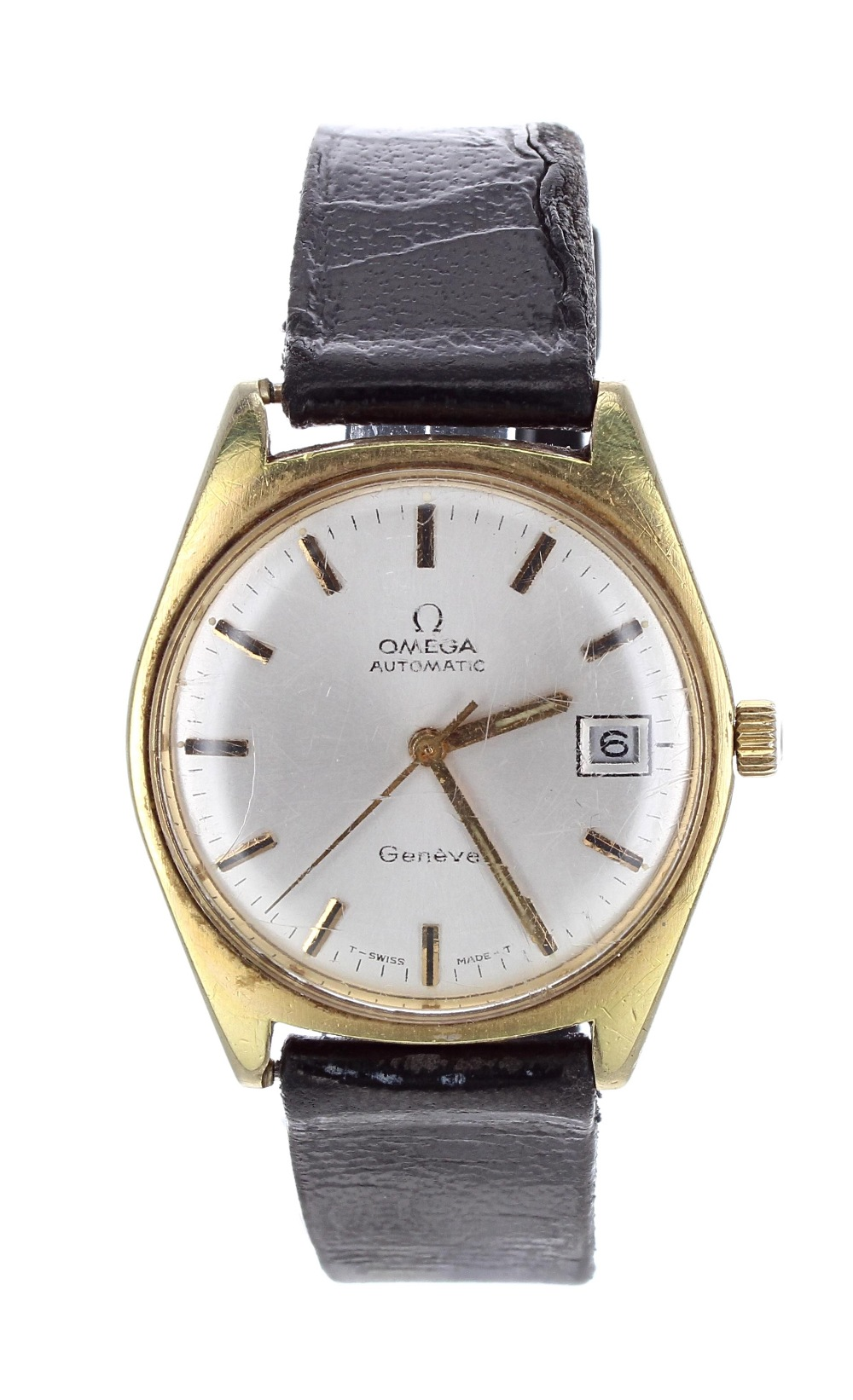 Lot 5 - Omega Genéve automatic gold plated and stainless steel gentleman's wristwatch, ref. 166.041, circa