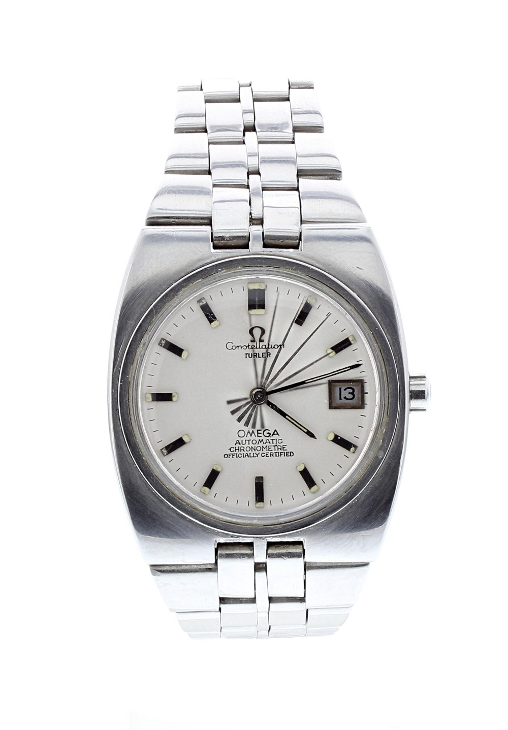 Lot 6 - Omega Constellation Chronometer automatic stainless steel gentleman's bracelet watch, ref. 168.