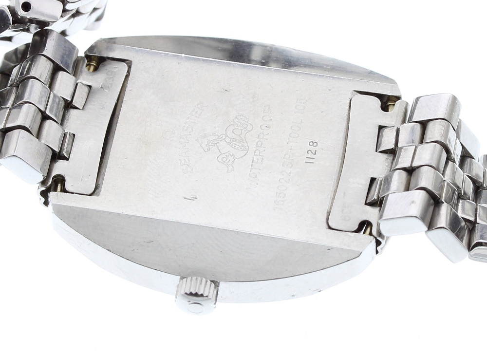 Lot 34 - Omega Seamaster Cosmic automatic stainless steel gentleman's bracelet watch, circular silvered