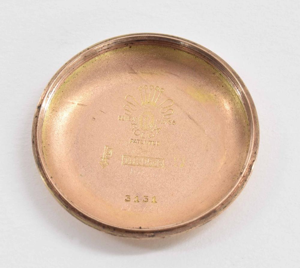 Lot 50 - Rolex Oyster Perpetual 14k pink gold 'bubble-back' gentleman's wristwatch, ref. 3131, circa 1946,