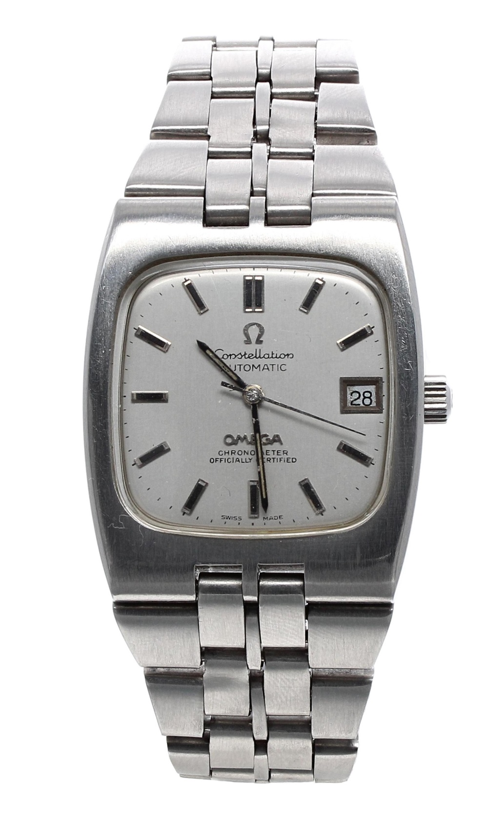 Lot 36 - Omega Constellation Chronometer automatic stainless steel gentleman's bracelet watch, circa 1970s,
