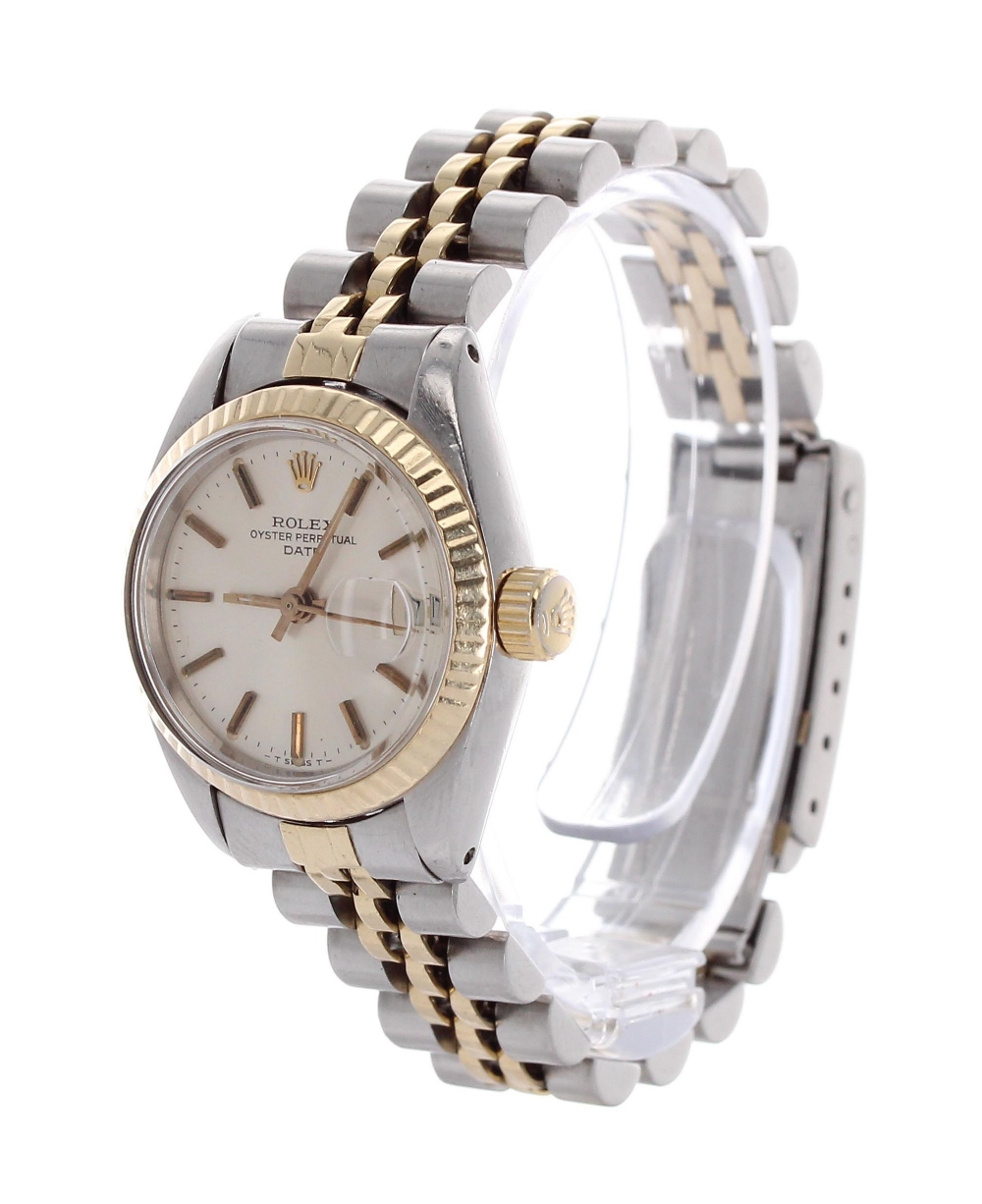 Lot 49 - Rolex Oyster Perpetual Datejust gold and stainless steel lady's bracelet watch, ref. 6917, circa