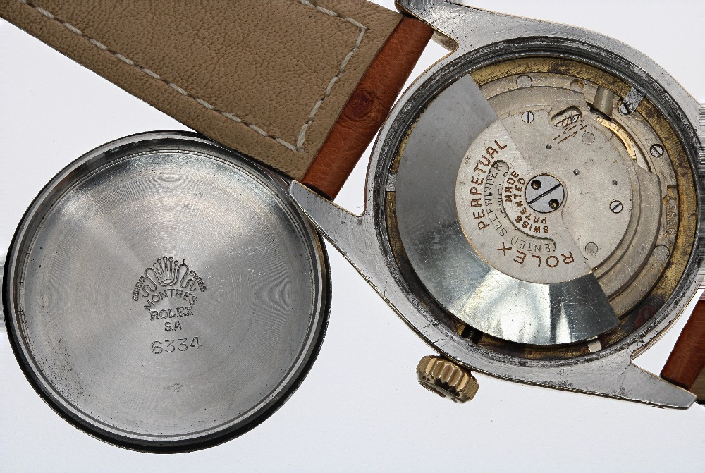 Lot 46 - Rolex Oyster Perpetual Chronometer 'bubble-back' gold capped and stainless steel gentleman's